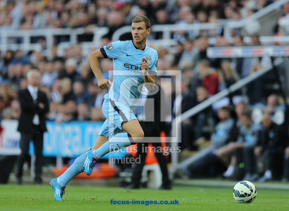 Edin Dzeko of Manchester City during the Barclays Premier League match at St. James's Park, Newcastle<br /> Picture by Simon Moore/Focus Images Ltd 07807 671782<br /> 17/08/2014