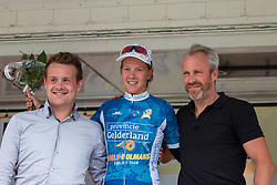 Podium with Demi de Jong of Boels Dolmans Cycling Team after the finish at the Holland Ladies Tour, 's-Heerenberg, Gelderland, The Netherlands, 1 September 2015.<br /> Photo: Pim Nijland / PelotonPhotos.com