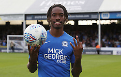 Ivan Toney of Peterborough United with the match ball at full-time after scoring a hat-trick - Mandatory by-line: Joe Dent/JMP - 14/09/2019 - FOOTBALL - Weston Homes Stadium - Peterborough, England - Peterborough United v Rochdale - Sky Bet League One