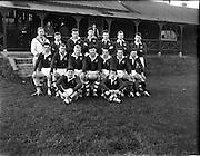06/12/1961<br /> 12/06/1961<br /> 06 December 1961<br /> Schools Interprovincial Rugby: Leinster v Munster at Donnybrook. The Munster Team.