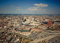 Aerial Image of Baltimore City and Camden Yards Oriole Stadium