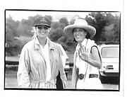 Patty Raynes and Peggy Siegel at the bridgehampton Polo Club mercedes-benz cup© Copyright Photograph by Dafydd Jones 66 Stockwell Park Rd. London SW9 0DA Tel 020 7733 0108 www.dafjones.com