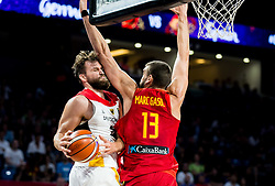 Danilo Barthel of Germany vs Marc Gasol of Spain during basketball match between National Teams of Germany and Spain at Day 13 in Round of 16 of the FIBA EuroBasket 2017 at Sinan Erdem Dome in Istanbul, Turkey on September 12, 2017. Photo by Vid Ponikvar / Sportida