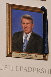 John R Ford, Blue Leadership Honoree 2009, Yale University Athletics. This Portrait hangs in the Kiphuth Trophy Room, Payne Whitney Gym.