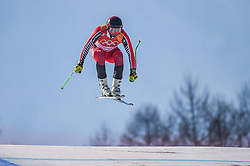 February 15, 2018 - Jeongseon, Gangwon, South Korea - Manuel Osborne-Paradis of  Canada competing in mens downhill at Jeongseon Alpine Centre at Jeongseon , South Korea on February 15, 2018. (Credit Image: © Ulrik Pedersen/NurPhoto via ZUMA Press)