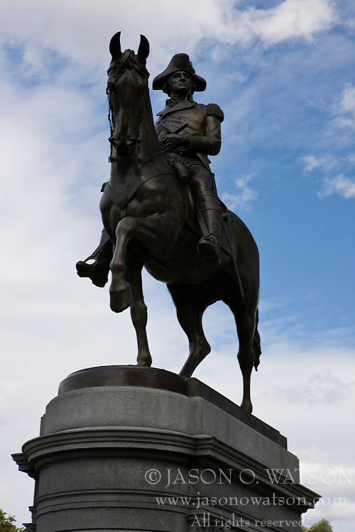 October 2, 2009; Boston, MA, USA; Statue of George Washington, first President of the United States of America, on horseback at the Public Garden.