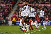 Max Lowe of Derby County during the EFL Sky Bet Championship match between Nottingham Forest and Derby County at the City Ground, Nottingham, England on 9 November 2019.