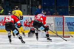 19.03.2019, Ice Rink, Znojmo, CZE, EBEL, HC Orli Znojmo vs Vienna Capitals, Viertelfinale, 4. Spiel, im Bild v.l. Radim Matus (HC Orli Znojmo) Sondre Olden (Vienna Capitals) Teemu Tapio Lassila (HC Orli Znojmo) Jakub Stehlik (HC Orli Znojmo) // during the Erste Bank Icehockey 4nd quarterfinal match between HC Orli Znojmo and Vienna Capitals at the Ice Rink in Znojmo, Czechia on 2019/03/19. EXPA Pictures © 2019, PhotoCredit: EXPA/ Rostislav Pfeffer