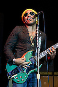 Lenny Kravitz performs at the Gulf Aid Benefit Concert at Blaine Kern's Mardi Gras World