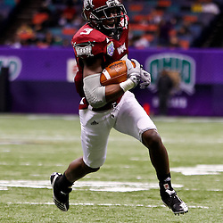 December 18, 2010; New Orleans, LA, USA; Troy Trojans wide receiver Jerrel Jernigan (3) runs in for a touchdown during the first half against the Ohio Bobcats in the 2010 New Orleans Bowl at the Louisiana Superdome.  Mandatory Credit: Derick E. Hingle