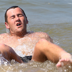 DURBAN, SOUTH AFRICA, December 10. 2015 - Stefan Ungerer during The Cell C Sharks Pre Season Beach South Beach training for the 2016 Super Rugby Season . (Photo by Steve Haag)<br /> images for social media must have consent from Steve Haag
