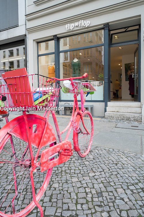 Small independent shop in Mitte district of Berlin Germany