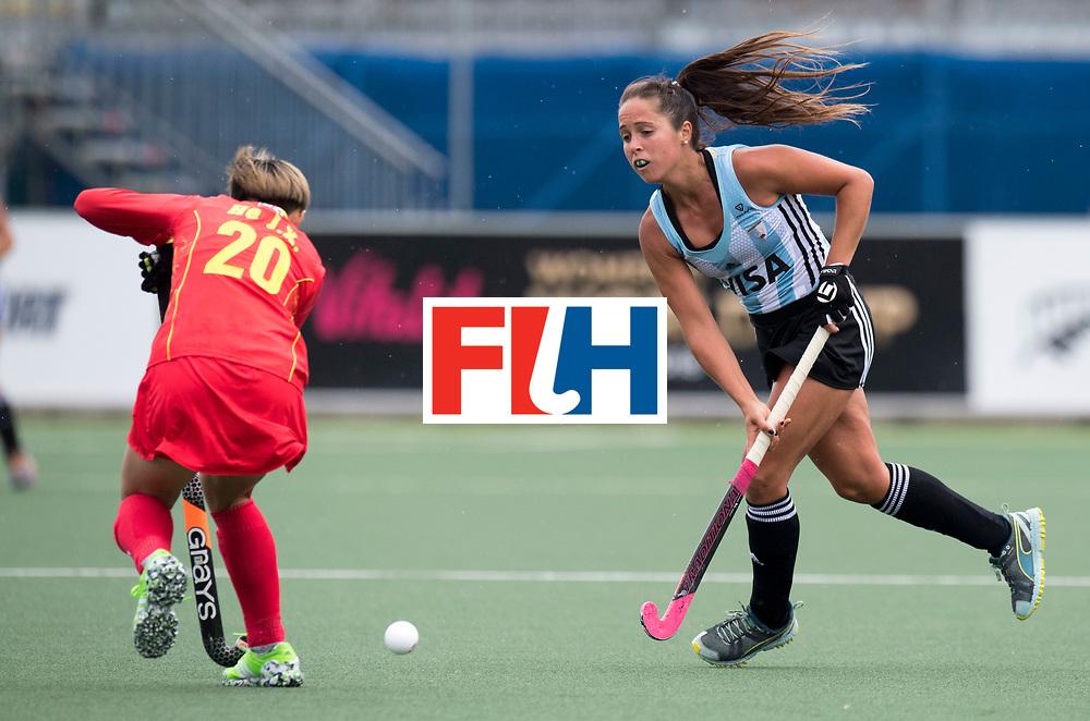 AUCKLAND - Sentinel Hockey World League final women<br /> Match id 10294<br /> 04 Argentina v China.<br /> Foto: Rocio Sanchez.<br /> WORLDSPORTPICS COPYRIGHT FRANK UIJLENBROEK