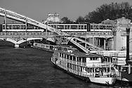 France. Paris. 13th district.  Pont d'austerlitz, elevated subway passover on the Seine river / Pont d'Austerliz