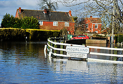 © Licensed to London News Pictures. Date 07/02/2014. Moorland, Somerset. Evacuated village of Moorland in Somerset. All residents have been evacuated as the flood waters continue to rise today.. Photo credit : MarkHemsworth/LNP