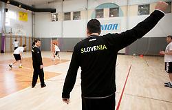 Boris Denic, head coach during practice session of Slovenian Handball Men National Team, on January 11, 2011, in Zrece, Slovenia. (Photo by Vid Ponikvar / Sportida)
