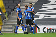 GOAL Nathaniel Mendez-Laing celebrates scoring 1-2  during the EFL Sky Bet League 1 match between Milton Keynes Dons and Rochdale at stadium:mk, Milton Keynes, England on 11 March 2017. Photo by Daniel Youngs.
