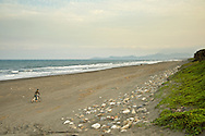 A beach near Yongjen Temple, in Yilan, Taiwan.