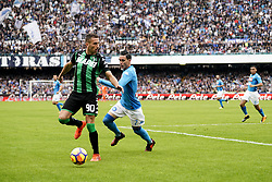 October 29, 2017 - Napoli, Napoli, Italy - Naples - Italy 29/10/2017.JOSE MARIA CALLEJON of  S.S.C. NAPOLI   and ANTONINO RAGUSA  of SASSUOLO fights for the ball during Serie A  match between S.S.C. NAPOLI and SASSUOLO  at Stadio San Paolo of Naples. (Credit Image: © Emanuele Sessa/Pacific Press via ZUMA Wire)