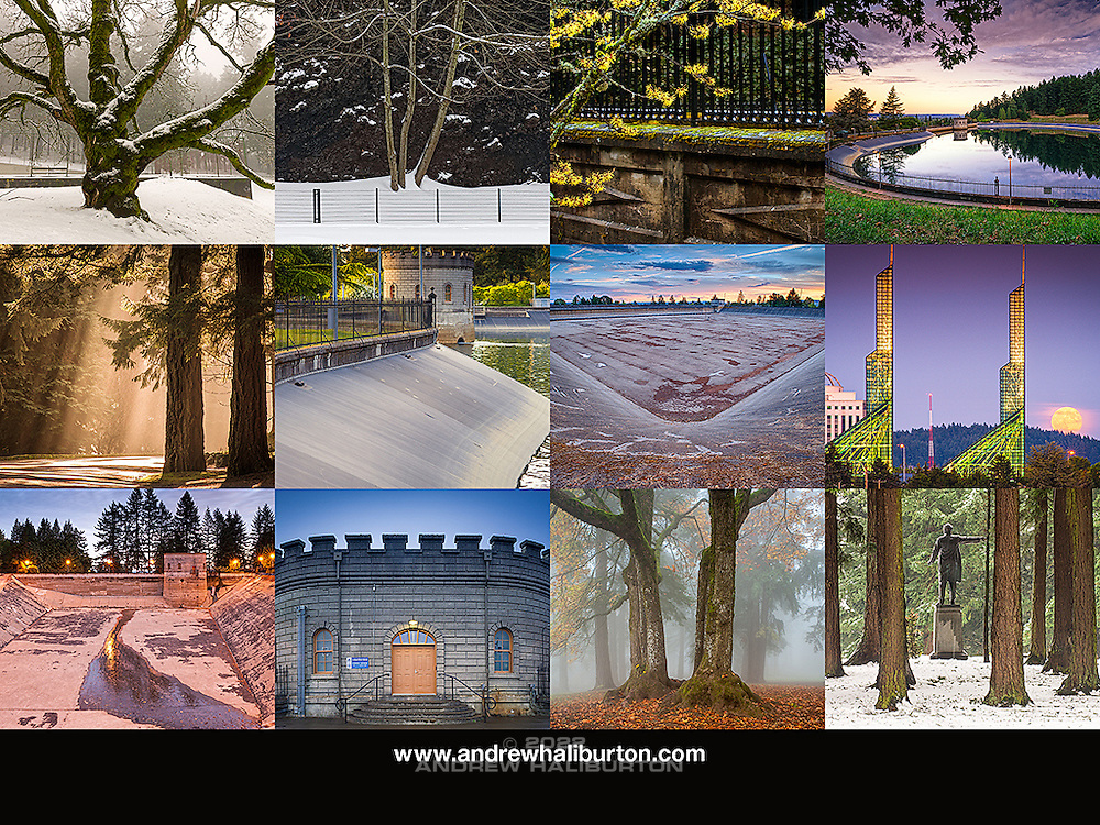2016 Calendar Mount Tabor Park, Back Cover, Portland, Oregon
