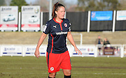 Kirsty Mcgee leading Reading to victory during the FA Women's Cup match between Crystal Palace LFC and Reading Women at Bromley, England on 8 February 2015. Photo by Michael Hulf.