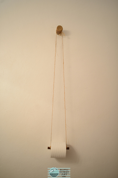 Toilet Paper Hanging on jute string