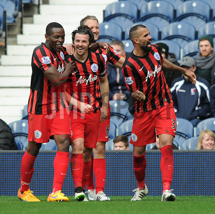 Queens Park Rangers' Joey Barton celebrates with his team mates after scoring. - Photo mandatory by-line: Dougie Allward/JMP - Mobile: 07966 386802 - 04/04/2015 - SPORT - Football - West Bromwich - The Hawthorns - West Bromwich Albion v QPR - Barclays Premier League