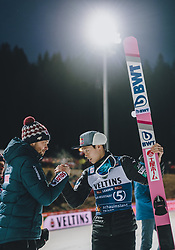 19.01.2020, Hochfirstschanze, Titisee Neustadt, GER, FIS Weltcup Ski Sprung, Siegerehrung, im Bild Cheftrainer Michal Dolezal (POL), Titisee Neustadt Five Sieger Ryoyu Kobayashi (JPN) // Headcoach Michal Dolezal of Poland Titisee Neustadt Five Winner Ryoyu Kobayashi of Japan during the winner ceremony for the FIS Ski Jumping World Cup at the Hochfirstschanze in Titisee Neustadt, Germany on 2020/01/19. EXPA Pictures © 2020, PhotoCredit: EXPA/ JFK