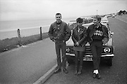 Parsloe, Kelly and Symond by the sea, UK, 1980s