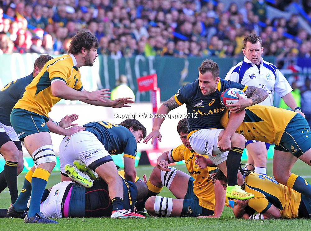 Francois Hougaard of South Africa during the 2014 Castle Lager Rugby Championship game between South Africa and Australia at Newlands, Stadium, Cape Town on 27 September 2014 ©Ryan Wilkisky/BackpagePix