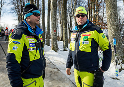 "Miha Verdnik and Klemen Bergant during FIS Alpine Ski World Cup 2017/18 Men's Slalom race named ""Snow Queen Trophy 2018"", on January 4, 2018 in Course Crveni Spust at Sljeme hill, Zagreb, Croatia. Photo by Vid Ponikvar / Sportida"