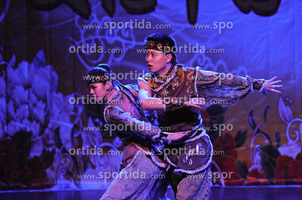 Dancers perform on the sidelines of the Spring Festival celebration at La Cupula Theater in Santiago, capital of Chile, on Feb. 28, 2015. EXPA Pictures &copy; 2015, PhotoCredit: EXPA/ Photoshot/ Jorge Villegas<br /> <br /> *****ATTENTION - for AUT, SLO, CRO, SRB, BIH, MAZ only*****