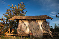 Old fisherman's cabin along the Danube, Gornje Podunavlje Special Nature Reserve, Serbia