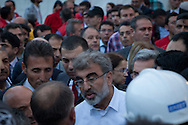 Taner Yildiz, Turkey's energy minister responds to anger from members of the mining community in Soma, Western Turkey. More than 238 have been killed in the worst mining incident in Turkey for decades, caused by an explosion after an electrical fault.