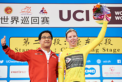 Lorena Wiebes (NED) retains the race lead after Tour of Chongming Island 2019 - Stage 2, a 126.6 km road race from Changxing Island to Chongming Island, China on May 10, 2019. Photo by Sean Robinson/velofocus.com