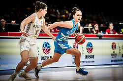 Heleen Nauwelaers of Belgium vs Zala Friskovec of Slovenia during basketball match between Women National teams of Belgium and Slovenia in the Qualification for the Quarter-Finals of Women's Eurobasket 2019, on July 2, 2019 in Belgrade Arena, Belgrade, Serbia. Photo by Vid Ponikvar / Sportida