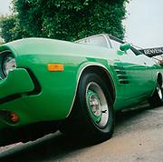 Green 1973 Dodge Challenger car USA