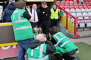 Press Ganged Accrington Stanley Manager John Coleman and AFC Wimbledon Manager Neal Ardley prior the Sky Bet League 2 Play-Off first leg match between AFC Wimbledon and Accrington Stanley at the Cherry Red Records Stadium, Kingston, England on 14 May 2016. Photo by Stuart Butcher.