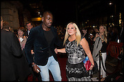 Ben Ofoedu; Vanesa Feltz, Memphis, The Musical. Press night and after party. Shaftesbury Theatre, London WC2 and party at Floridita, Wardour st. Soho.