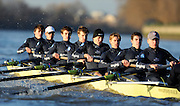 """London; GREAT BRITAIN; Oxford University Trial Eights for crew selection for 157th Boat Race [April 2011]  raced over the Championship Course Putney to Mortlake  on the River Thames. Wednesday  - 08/12/2010   [Mandatory Credit; """"Photo, Peter Spurrier/Intersport-images].Crews.OUBC Nature; Surrey Station.Bow, Charlie AUER, 2. Tom WATSON, 3. Dan HARVEY, 4. David WHIFFIN, 5, Karl HUDSPITH, 6. Moritz HAFNER, 7. Ben MYERS, stroke. Constantine LOULOUDIS and cox Zoe DeTOLEDO...OUBC Nurture Middx Station [White Tops].Bow, George BLESSLEY, 2. Matt POINTING, 3. Alex WOODS, 4. Alex DENT, 5. Ben ELLISON,6. Simon HISLOP, 7. George WHITTAKER, Stroke Ben SNODIN and Cox Hannah LEADBETTER.."""