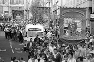 Sharlston banner, 1983 Yorkshire Miner's Gala. Barnsley