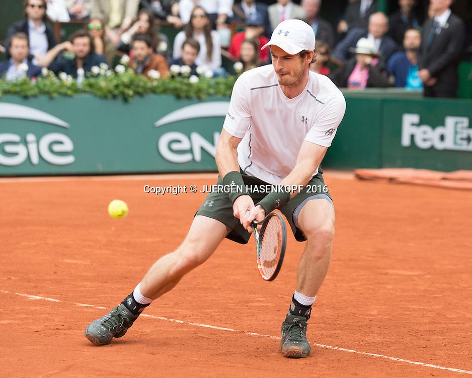 Andy Murray (GBR) Herren Finale, Endspiel,<br /> <br /> Tennis - French Open 2016 - Grand Slam ITF / ATP / WTA -  Roland Garros - Paris -  - France  - 5 June 2016.