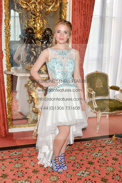 Actress LORNA FITZGERALD at the Dream Ball in aid of The Princes's Trust and Big Chance held at Lancaster House, St.James's, London on 7th July 2016.
