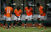 Photo: Steve Bond/Richard Lane Photography.<br /> Ivory Coast v Benin. Africa Cup of Nations. 25/01/2008. Abdul Kadir Keita (2nd from R) celebrates his goal