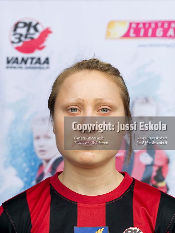 Eveliina Kivekäs. PK-35. Naisten Liiga. Vantaa. 20.4.2010. Photo: Jussi Eskola