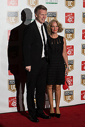 © Licensed to London News Pictures . 27/03/2014 . Manchester , UK . David Moyes arrives at a gala dinner at Manchester United Football Club in support of United for Colitis , in aid of Crohn's And Colitis UK . Photo credit : LNP