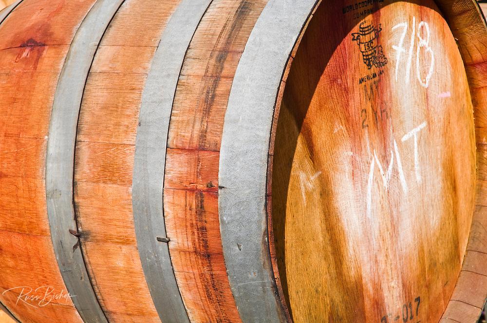 Oak wine barrel at Harmony Cellars, Harmony, California
