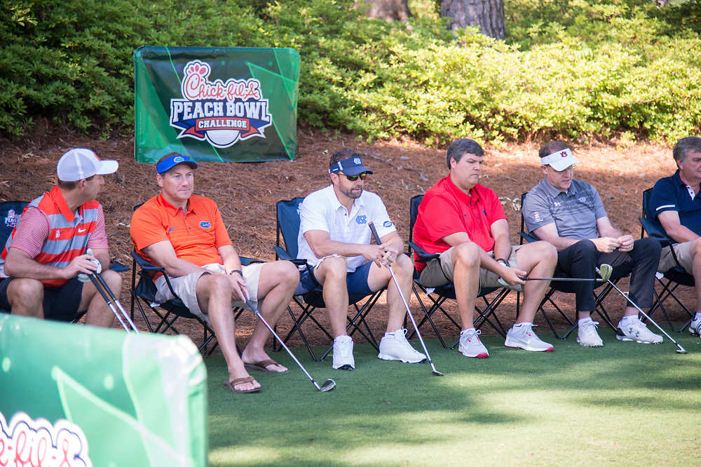 General images from the Chick-fil-A Peach Bowl Challenge Skills Competition at the Oconee Course at Reynolds Plantation on Monday, April 30, 2018 in Greensboro, Georgia (Dale Zanine / Abell Images for Chick-fil-A Peach Bowl)