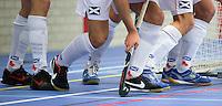 HEEMSKERK- Zaalhockey - logo Bloemendaal bij Bloemendaal-Alkmaar.  Copyright Koen Suyk