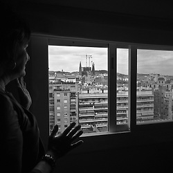 """Baptised by Rebecca as """"Our Lady of the Perpetual Crane"""" she hopes to see her everyday view of Gaudi's """"Sagrada Familia"""" basilica without construction in her lifetime."""